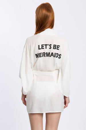 Lets Be Mermaids Baskılı Kimono