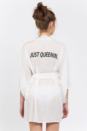 Just Queenin. Baskılı Kimono